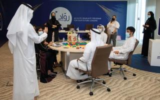 الصورة: «الإمارات دبي الوطني» يطلق «رواد» لرفع كفاءة الكوادر الوطنية
