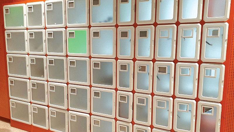الخزانة الذكية مطبوعة بتقنية الطباعة ثلاثية الأبعاد.    من المصدر
