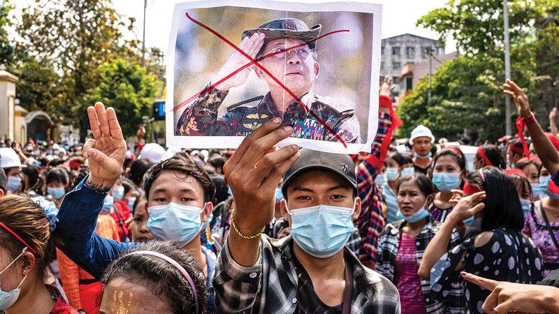 التجربة الديمقراطية القصيرة في ميانمار فشلت.   أرشيفية