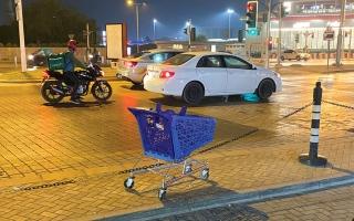 الصورة: لقطة.. عربات تسوق