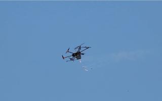 الصورة: سقوط طائرة إسرائيلية مسيرة في سورية