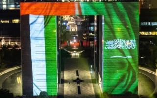 """الصورة: في اليوم الوطني السعودي.. """"معا أبدا"""" يجتاح """"تويتر"""" بالإمارات: """"شعب واحد.. مصير واحد"""""""
