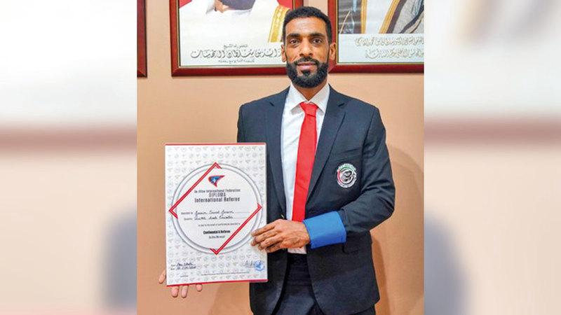 صورة تسديدات.. جاسم سعيد يحصل على الدبلوم القاري