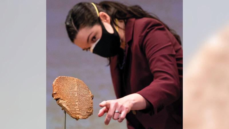 اللوح المسماري عمره 3500 عام.  أ.ف.ب