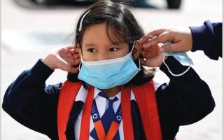الصورة: دراسة توصي بضرورة ارتداء الكمامات بشكل شامل في المدارس