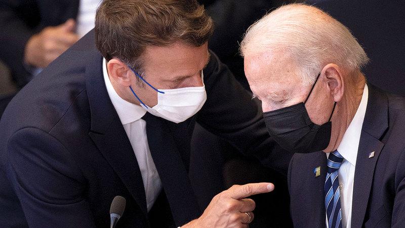 خلاف فرنسا مع الولايات المتحدة قد يصبّ في مصلحة ماكرون.   أرشيفية