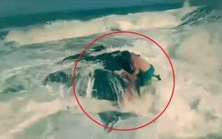 الصورة: زوجة توثق لحظات مأساوية لغرق زوجها بدلاً من توثيق شهامته في انقاذ فتاة