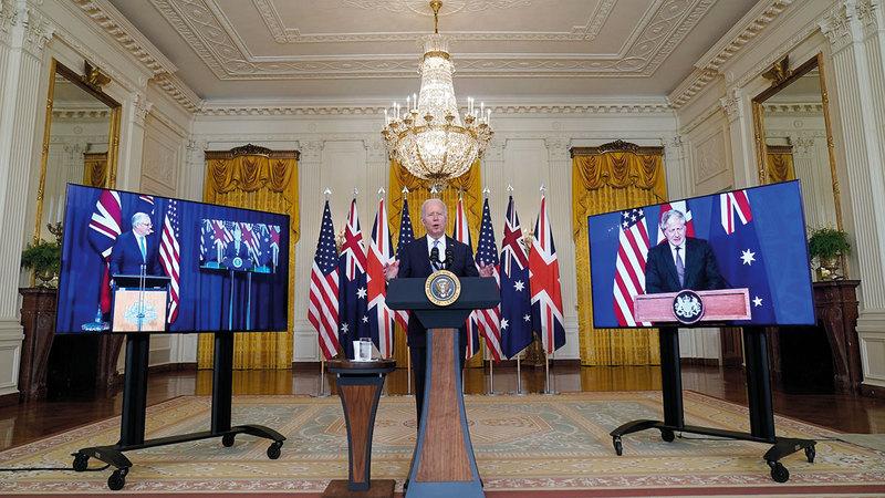 أميركا وبريطانيا وأستراليا تفاوضت بشأن صفقة الغواصات سراً.   أرشيفية