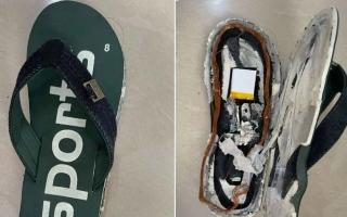"""الصورة: """"شبشب"""" مزود بجهاز اتصال وشريحة هاتف.. أحدث طرق الغش في الامتحانات"""