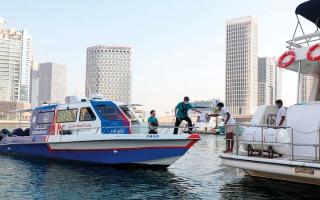الصورة: القوارب الإسعافية في دبي متأهبة للتعامل مع أصعب الحالات