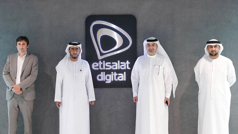 خلال افتتاح جناح «اتصالات» في «إكسبو 2020 دبي».  من المصدر