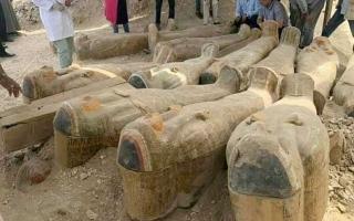 الصورة: الآثار المصرية تكشف حقيقة التوابيت الفرعونية المعروضة في أفغانستان