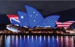 الصورة: رئيس وزراء أستراليا يقدم هدايا تقليدية لحلفائه