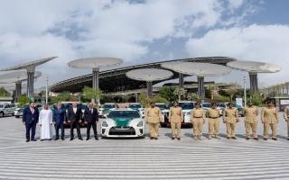 """الصورة: 2020العربية للسيارات تقدم اسطولا من """"باترول نيسمو 2021"""" إلى شرطة دبي في إكسبو"""
