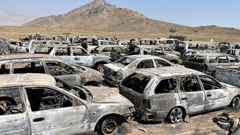 الـ«سي آي إيه» أحرقت جميع العربات والممتلكات والوثائق قبل مغادرتها مجمعها في كابول. À من المصدر