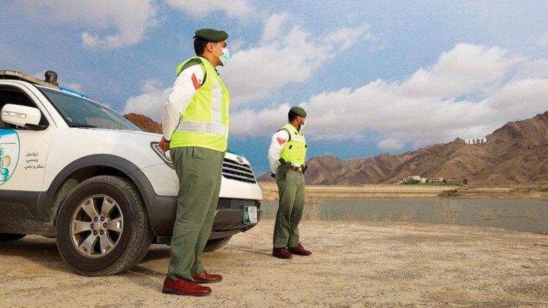 شرطة دبي ترفع درجة الاستعداد تحسباً لأي طارئ.  من المصدر
