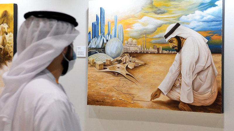 جناح «نادي تراث الإمارات» تضمن هذا العام «متحف الشيخ زايد».   تصوير: إريك أرازاس