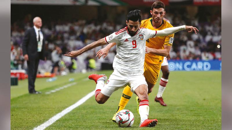 بندر الأحبابي: سنخوض لقاء إيران على ملعبنا ونتمنّى أن نحظى بالمساندة الجماهيرية الكبيرة.   الإمارات اليوم