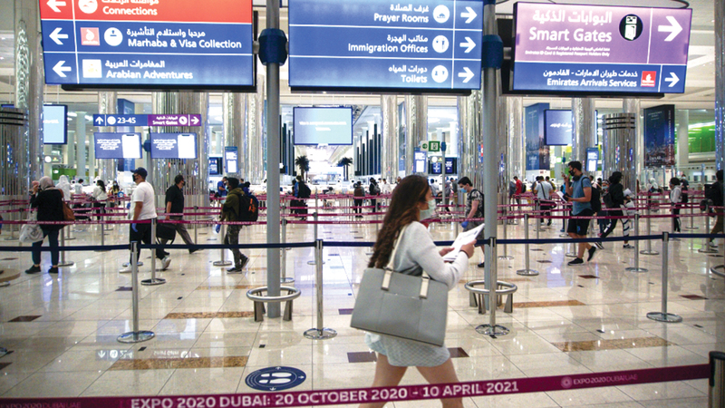 دولة الإمارات أطلقت مجموعة تدابير تضمن صحة وسلامة جميع المسافرين.   أرشيفية
