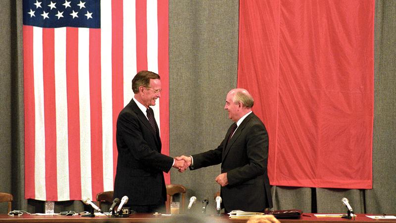 الحرب الباردة بين أميركا والاتحاد السوفييتي لديها طابع أيديولوجي.  أرشيفية