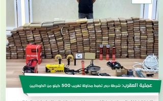 الصورة: «عملية العقرب».. شرطة دبي تضبط 500 كيلو من مخدر الكوكايين