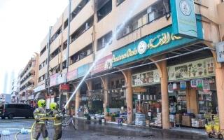 الصورة: «دفاع مدني دبي» تسيطر على حريق دون إصابات