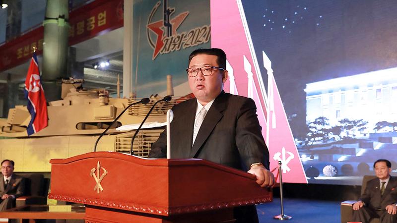 الرئيس الكوري الشمال «يحاكم» بصفته رئيس حكومة بيونغ يانغ.  أ.ف.ب