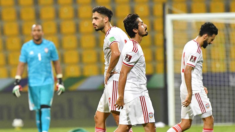المنتخب لم يحقق أي انتصار حتى الآن في تصفيات مونديال 2022.  تصوير: أسامة أبوغانم