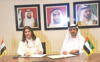 الصورة: الإمارات والعراق توقعان اتفاقية لحماية وتشجيع الاستثمار