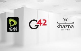 الصورة: اتفاقية بين «اتصالات» و«جي 42» لتأسيس أكبر مزود لمراكز البيانات في الإمارات