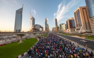الصورة: شارع الشيخ زايد مضمارا لـ«تحدي دبي للجري»  26 نوفمبر المقبل