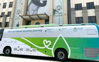 الصورة: 13.9 ألف متبرّع يشاركون في حملة «دمي لوطني»