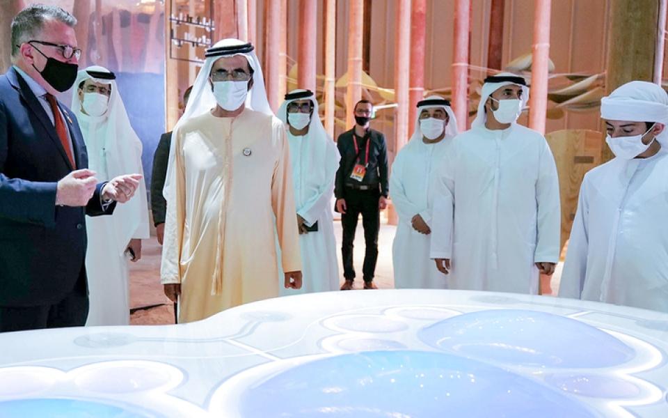 الصورة: محمد بن راشد يزور جناحَي ليتوانيا والسويد في «إكسبو 2020 دبي»