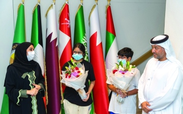 الصورة: «تحقيق أمنية» أول طفلين في «إكسبو 2020 دبي»