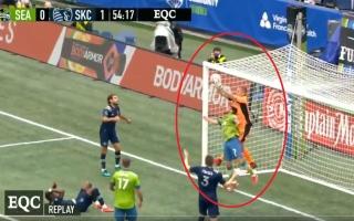 """الصورة: أغرب مشهد عنيف في كرة القدم عقوبته غير منطقية لـ """"الحارس المصارع"""" (فيديو)"""