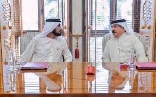 محمد بن راشد يؤكد توافق الرؤى بين الإمارات والبحرين حول القضايا كافة