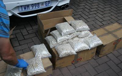 مخدرات ضبطت في جنوب أفريقيا. من المصدر