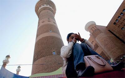 المسلمون أدخلوا الفن المعماري الإسلامي في مساجد الصين.غيتي