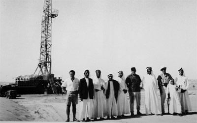 حفر أوّل بئر في فبراير 1950 في منطقة رأس الصدح.