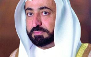 حاكم الشارقة يهنئ ملك المغرب بيوم العرش