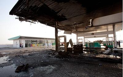 نظام الأمن والسلامة بالمحطة ساهم في تطويق الحريق. تصوير: أحمد عرديتي