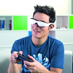 نظارات الفيديو تجعل أجهزة محاكاة الطيران أو ألعاب التصويب أكثر إثارة. د ب أ