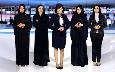 عدد من مقدمات برامج القناة الجديدة.  من المصدر
