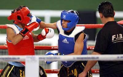 منتخب الملاكمة يحقق نتائج جيدة لكنه بحاجة إلى مضاعفة الدعم. تصوير: أسامة أبوغانم