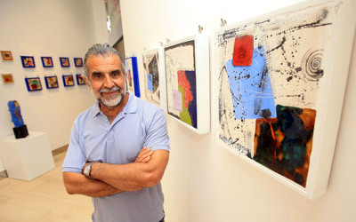 الزعبي أحد أبرز فناني الحرفة القديمة بأسلوب معاصر. تصوير: باتريك كاستيلو