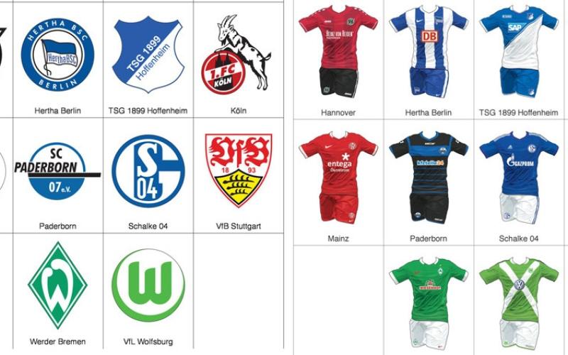 الصورة: رسم تفاعلي .. ماذا سترتدي فرق الدوري الألماني للموسم الجديد؟