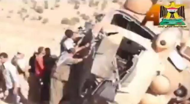 """بالفيديو.. شاهد لحظة سقوط طائرة النائبة """"فيان دخيل"""" فوق جبل سنجار"""