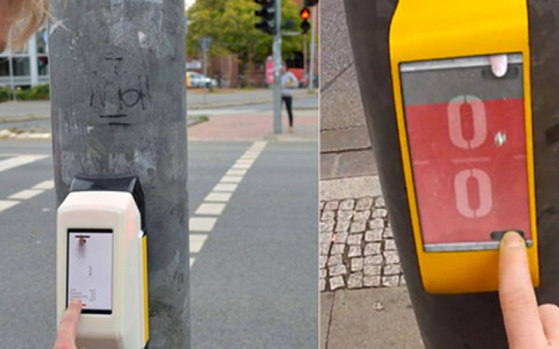 الصورة: مدينة ألمانية تضع ألعاباً تفاعلية  على أعمدة إشارات المرور