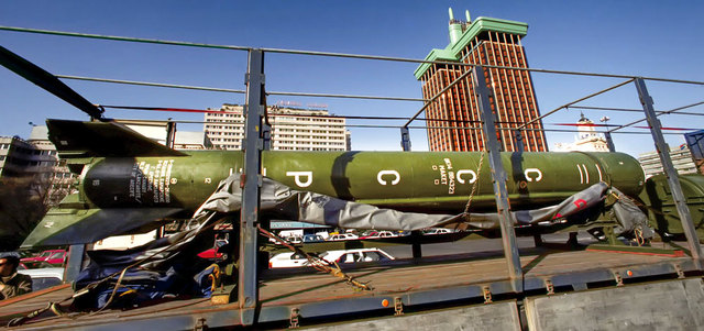 الكاتب روميرو اشترى صاروخ «سكود» من روسيا ليحوله إلى نصب تذكاري للسلام. من المصدر