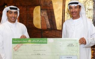 الصورة: بلدية دبي تتبرع لمصلحة السجناء المعسرين